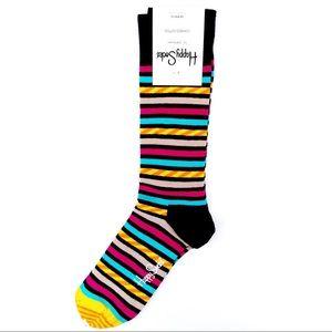 🆕 Happy Socks Striped Crew Socks Mens Womens